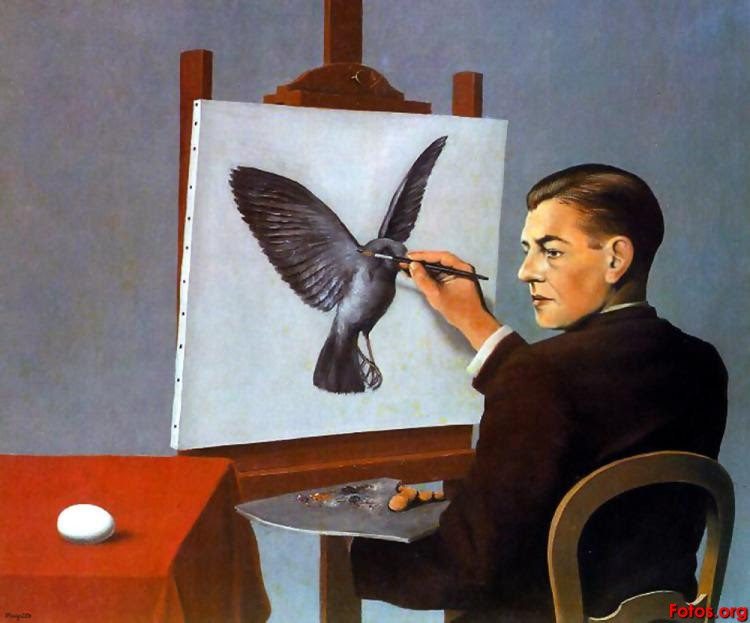 Rene Magritte's painting 'La Clairvoyance'